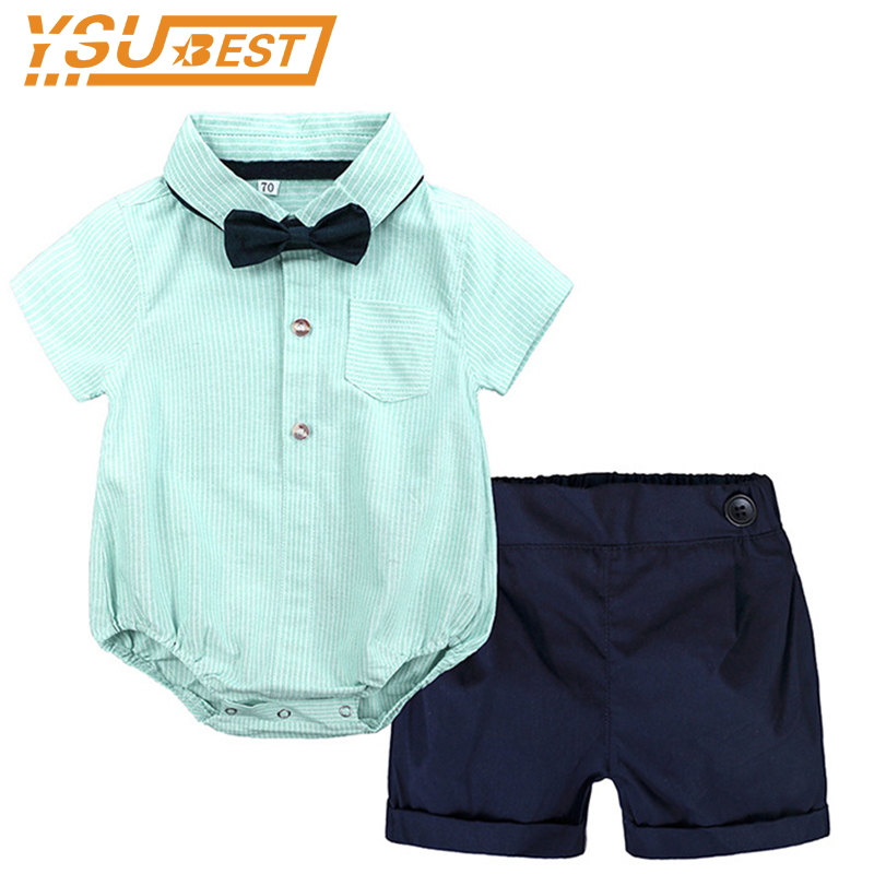 Kids Boys Free Shipping Beach Clothes Round Neck Sleeveless Pullover Geometry T-shirts Leaf Print Shorts 2pc Baby Lovely Outfits Be Friendly In Use Mother & Kids