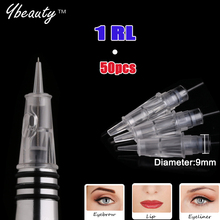 Permanent Makeup Needles 1rl Eyebrow Lip Needle CHARMANT Digital Permanent Make-up Device For Tattoo Needles