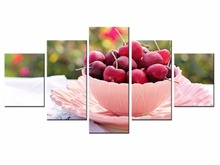 5 Panel Modern Printed Fashion poster series Painting Picture Canvas Art for Living Room No Frame /still life-43