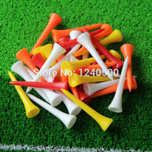 Free Shipping 100Pcs/lot 70 mm Mixed Color Plastic Golf Tees Wholesale