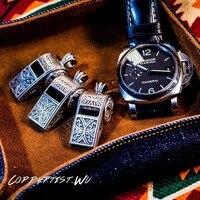 coppertist.wu arabesquitic whistle silver keychain handmade key chain key HandBag Pendant Male Accessories