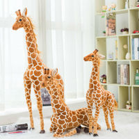 60/80/100/120cm Simulation Giraffe Plush Toy Stuffed Soft Animal Giraffe Toy Home Accessories Baby Kids Birthday
