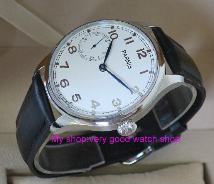 все цены на 44MM PARNIS Asian ST3600 17 jewels gooseneck Mechanical Hand Wind men's watch High quality WATCH wholesale rnm20 онлайн