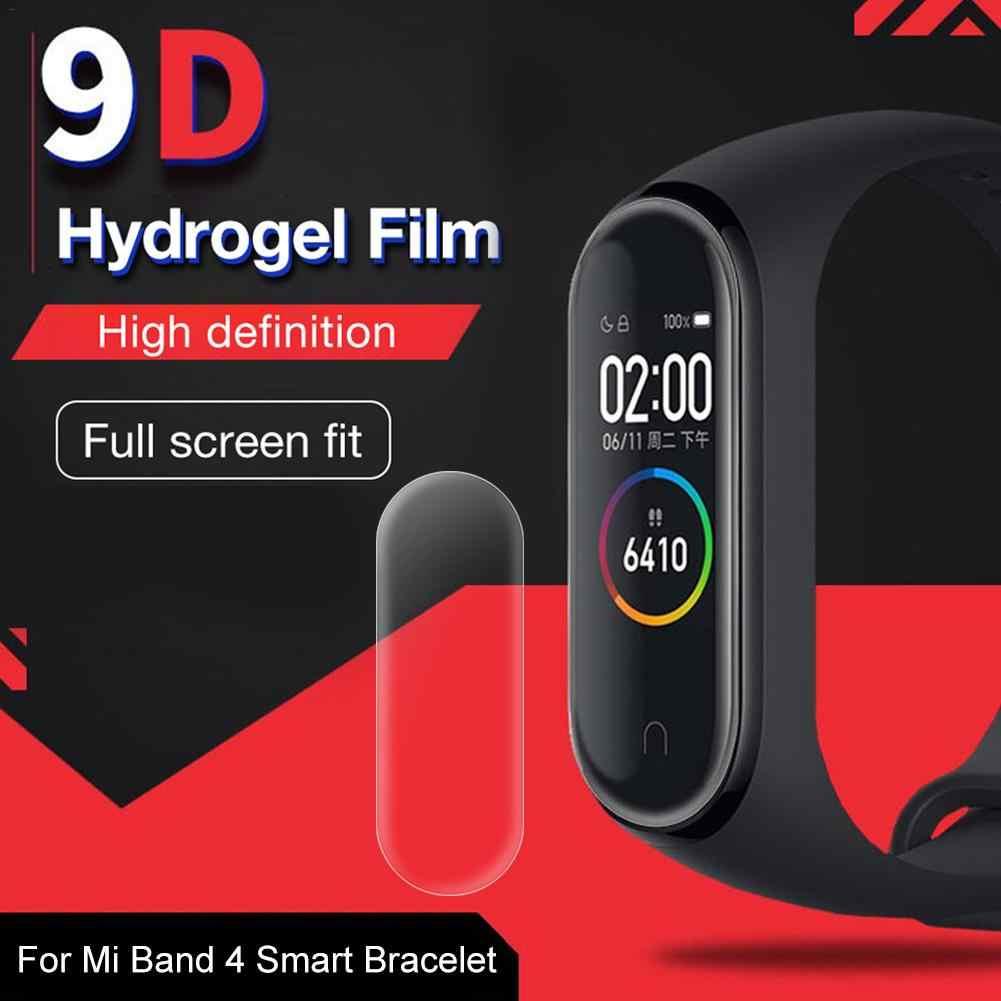 واقي للشاشة الخاصة خفف من فيلم كامل الشاشة سطح حقيقي HD فيلم مقاوم للكسر ل Mi Band 4 سوار ذكي