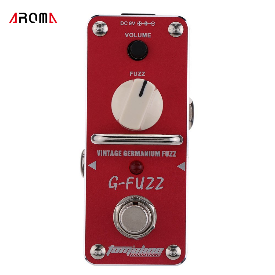 AROMA AGF-3 G-FUZZ Vintage Germanium Fuzz Guitarra Effect Pedal Mini Analogue Guitar Effect Pedal with True Bypass mooer ensemble queen bass chorus effect pedal mini guitar effects true bypass with free connector and footswitch topper