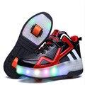 14y взрослых детская обувь ролик обувь со светодиодный дышащая Мода для мальчиков и девочек heelies Спортивная повседневная