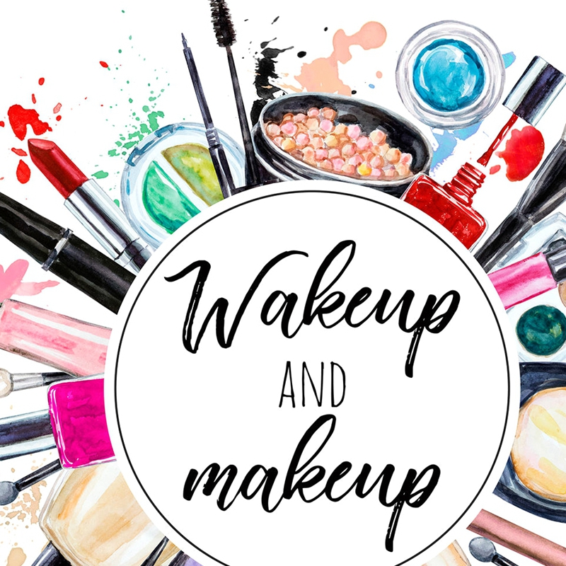 Wake Up And Make Up Quote Print Watercolour Wall Art