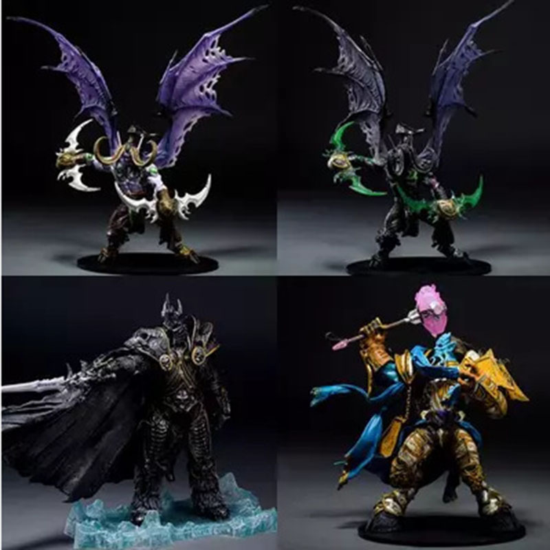 Game Character WOW The Lich King Action Figure Fall of the Lich King Arthas Menethil 21CM PVC Toy Figure Free shipping