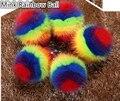 Норки круглый радуга помпонное брелок пакет очарование мех подвеска