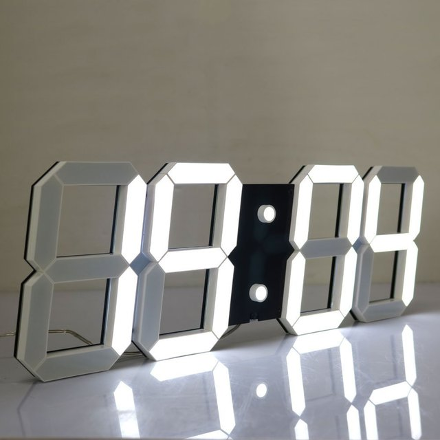 Led Digital Wall Clock Large LED Display Remote Control Countdown