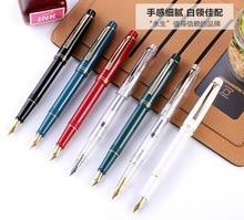 Wingsung Wing Sung 659 Double Nib Iraurita Transparent Fountain Pen Screw Converter