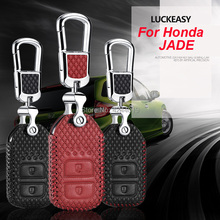 LUCKEASY Car Keychain Keyring Key Bag Fob Central Cover For Honda Jade 2013-2017