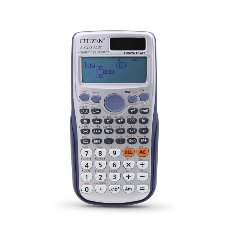Marka yeni FX-991ES-PLUS orijinal bilimsel hesap makinesi fonksiyonu okul ofis için iki yönlü güç