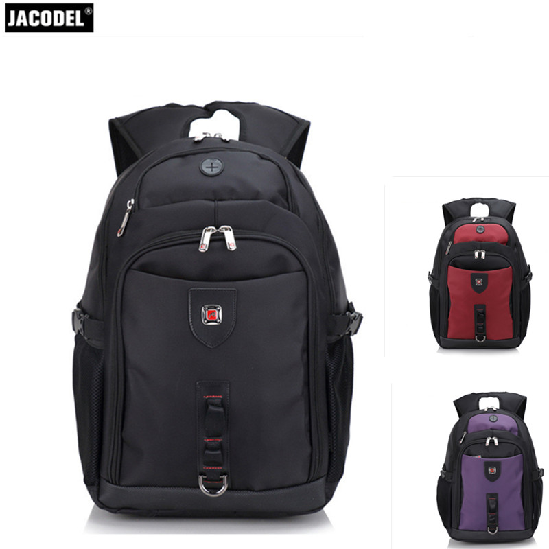 Jacodel Unisex Large Capacity Backpack for 15.6 Inch Laptop Bag for Dell Asus 15.6 Men 15.6 Girls Travel Back Pack School bags jacodel 2017 business 15 inch laptop bag computer backpack bags for men women school bag backpack for teenagers travel bags case