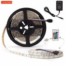 цена на 16 Colors 4 Modes LED Strip Kit 3528 SMD 5M 60LEDs/m DC 12V Waterproof Flexible RGB LED Light Strip with IR Remote Controller