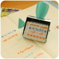 12 Designs Creative Cute Scrapbooking Stamp DIY Decorative Seal Roller Stamps For Scrapbooking