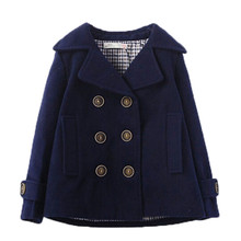 boy wool coat woolen coat throughout the prolonged winter coat boy's swimsuit collar and cashmere winter model fashions china-imported-clothes