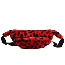 New autumn and winter fashion leopard print ladies breast bag trend single shoulder
