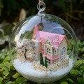 B009 DIY стеклянный шар кукольный дом миниатюрный замок деревянная игрушка кукольный домик подарок на день рождения - лолита дома мечты