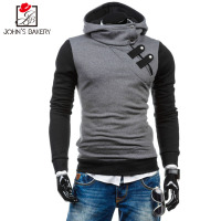 John S Bakery Brand 2017 Hoodies Brand Men Splicing Sweatshirt Male Hoody Hip Hop Autumn Winter