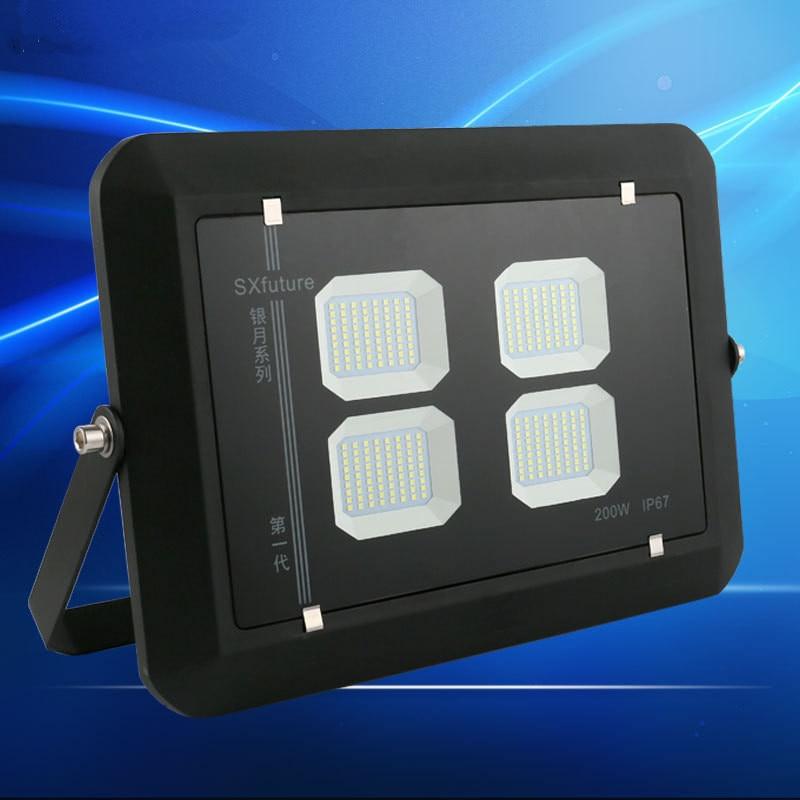 Newest Linear led floodlight 50W 100W 150W 200W Outdoor Spotlight Flood Light Waterproof IP67 Professional Lighting Lamp