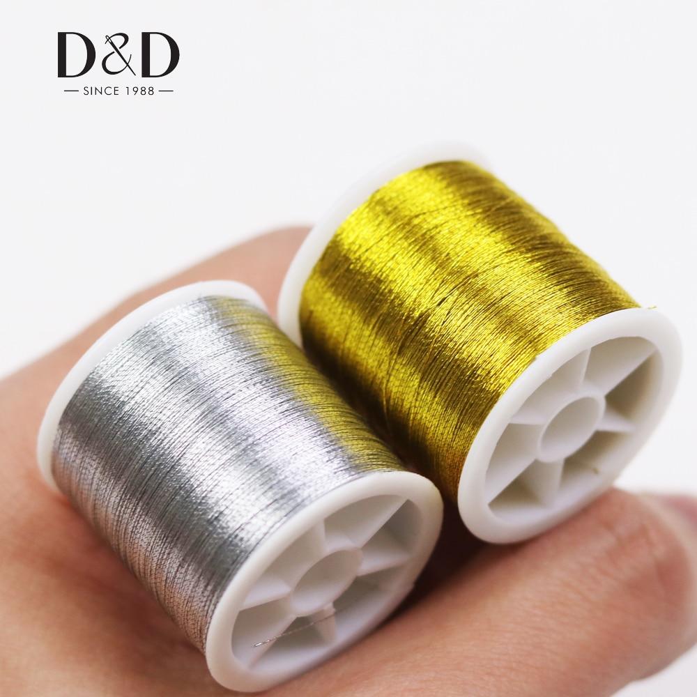D & D arany / ezüst 109 Yards Tartós Overlocking Varrógép Threads - Művészet, kézművesség és varrás
