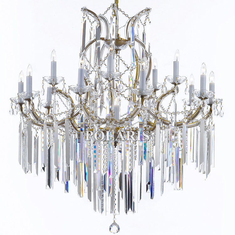 Maria Theresa Crystal Chandeliers 16 Lights Large Luxury Big Hanging Lamps Home Hotel Lobby Light Lighting with K9 Crystals new fashion pattern ultra slim lightweight luxury folio stand leather case cover for huawei mediapad t2 pro 10 0 fdr a01w a03l page 3