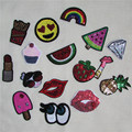 1pcs sell high quality paillette patch hot melt adhesive applique embroidery patch DIY clothing accessory patch C2001-C2018