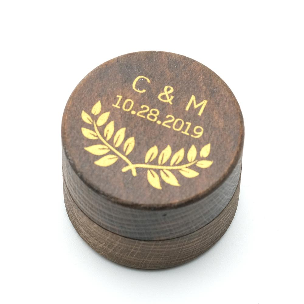 Rustic Ring Box, Personalized Wedding Ring Bearer Box, Custom Wedding Ring Box Holder Rustic Wedding Gift