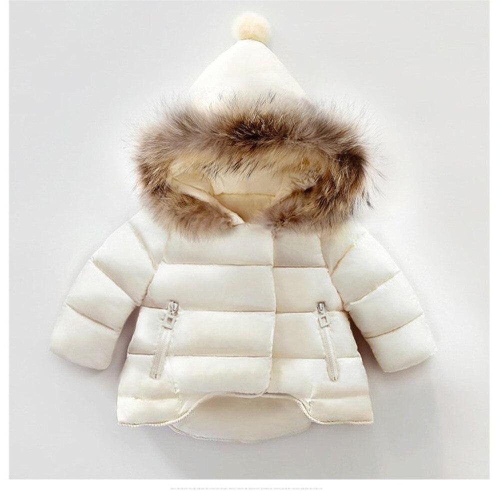 купить 2016 Zipper Winter Girls Parka Fur Hooded Thickening Baby Girls Winter Jacket Warm Kids Snowsuit Children Clothing Kids Outwears недорого