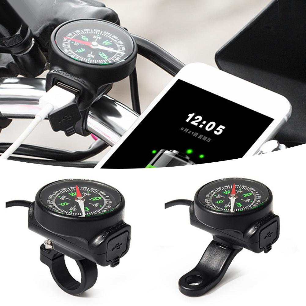 Image 5 - Motorcycle Mobile Phone Charger USB Waterproof Switch Car Charger With Compass USB 12 80V Universal Wholesale Purchasing-in Chargers & Service Equipment from Automobiles & Motorcycles