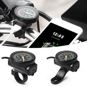 Image 5 - Motorcycle Mobile Phone Charger USB Waterproof Switch Car Charger With Compass USB 12 80V Universal Wholesale Purchasing