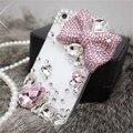 Strass gemas de diamante de cristal bowknot casos de telefone capa para o iphone 5s 5 coque SE 6 7 Plus para Samsung S 5 6 7 borda Nota J caso