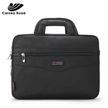 防水ビジネス男性 14 インチのラップトップブリーフケースバッグ高品質カジュアルハンドバッグ男性の事務所バッグコンピュータショルダーバッグ