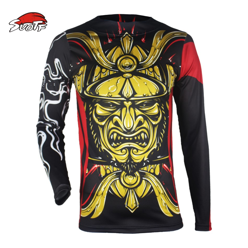 SUOTF Golden Japanese Warrior Spray mma clothing jaco font b Fitness b font Fighting Fierce Boxing