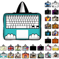10 11.6 13 13.3 14 15 15.6 17 17.3 Inch Keyboard print Laptop sleeve Notebook Bag Case Messenger PC Handbag for ipad macbook HP