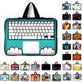 10 11.6 13 13.3 14 15 15.6 17 17.3 Polegada de impressão Teclado caso laptop sleeve notebook bag mensageiro pc bolsa para ipad macbook hp
