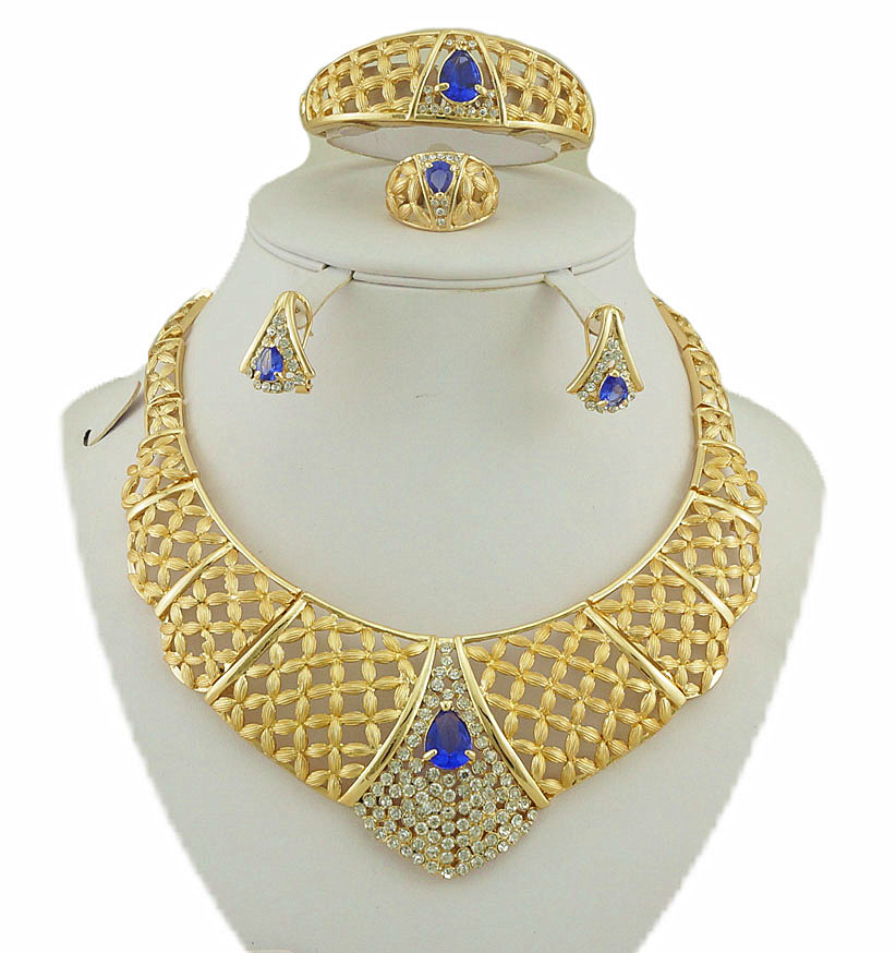 african gold jewelry sets color guaranteed high quality wedding jewelry sets women fashi ...