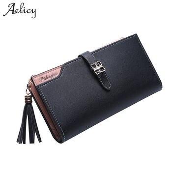 57a961a516c Aelicy nuevo diseño largo billeteras de mujer moda 2019 nueva marca de las  mujeres monedero carteras