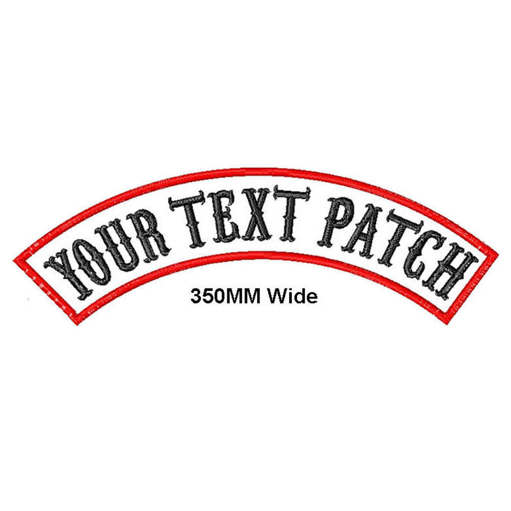 Custom Embroidered Top Rocker DO NOT PET Name Tag Sew on Patch
