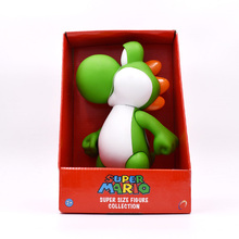 лучшая цена 23 cm Anime Figura Super Mario Bros Yoshi PVC Action Figure Doll Collectible Model Baby Toy Christmas Gift For Children