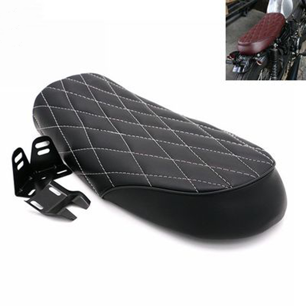 Efficient Motorcycle Black Flat Brat Style Tracker Vintga Cafe Racer Seat For Honda Cg125 Low Price Back To Search Resultshome