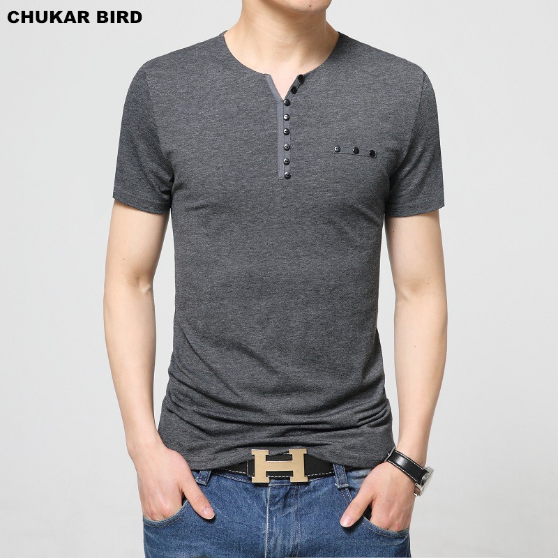 CHUKAR BIRD Mens T Shirt Slim Fit Crew Neck T-shirts
