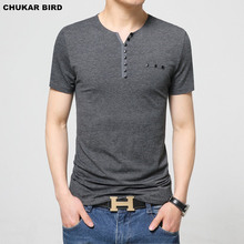 CHUKAR BIRD Mens T Shirt Slim Fit Crew Neck T-shirt Men Short Sleeve Shirt Casual tshirt Tee Tops 2016 Short Shirt Size M-5XL