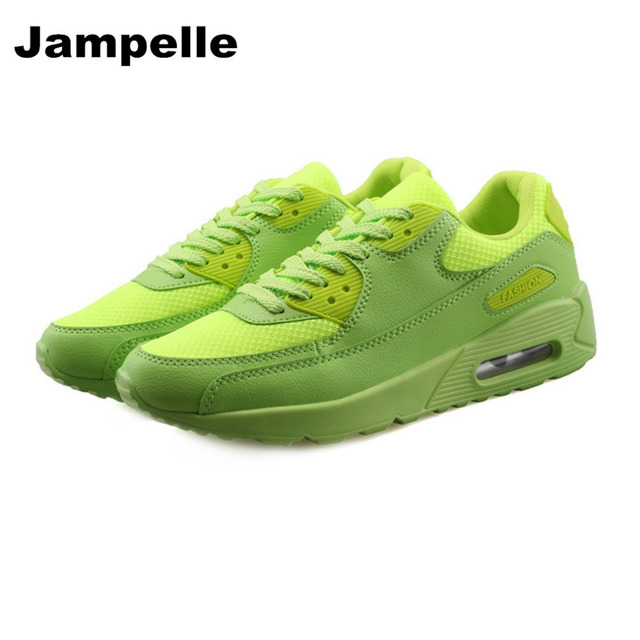 Jampelle New Men Sports Shoes Mesh Upper PU Sole Outdoor Shoes Air Cushion Design Thickening Bottom Running Shoes for Men Women