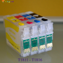 Vilaxh T1811-T1814 kartridż do drukarki do ponownego napełnienia kartridż do epson XP412 XP225 XP102 XP202 XP302 XP312 XP402 XP205 XP305 XP405 XP215 XP415