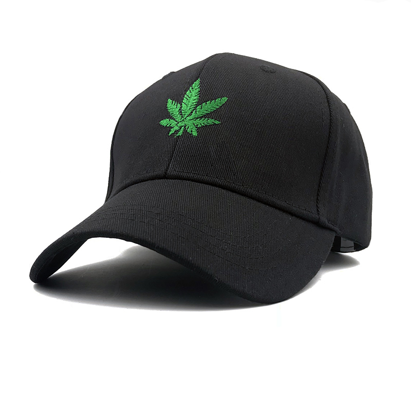 2019 New Fashion weed Embroidery Maple Leaf White Cap Snapback Hats For Men Women Cotton Swag Hip Hop Fitted Baseball Caps