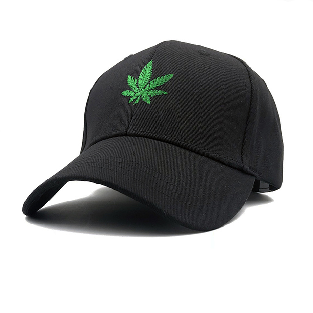 2018 New Fashion Embroidery Maple Leaf White Cap Weed Snapback Hats For Men  Women Cotton Swag Hip Hop Fitted Baseball Caps a66770d4a