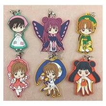 Anime Keychain Card Captor Cardcaptor Sakura Kinomoto Sakura Tomoyo Kinomotosakura Portachiavi Keyring Pendant