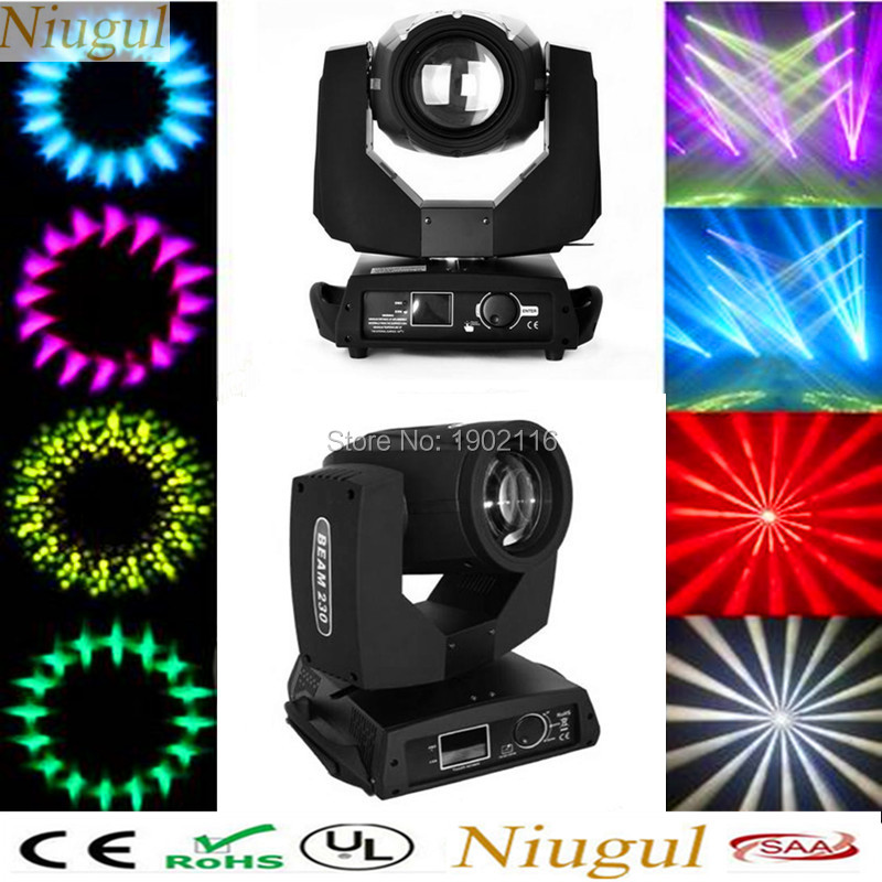 2PCS Niugul Kualiti Terbaik 230W 7R Beam Bergerak Head Light / Sentuhan Skrin DMX512 Kesan Tahap Club DJ Pencahayaan / 230W Beam Spot Light
